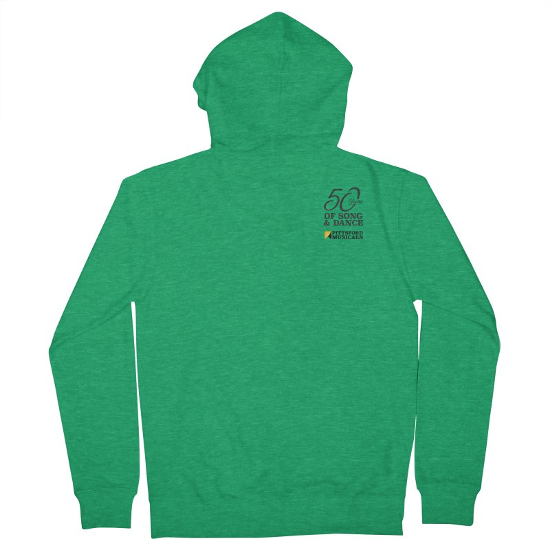 2018 show Men's French Terry Zip-Up Hoody by Pittsford Musicals