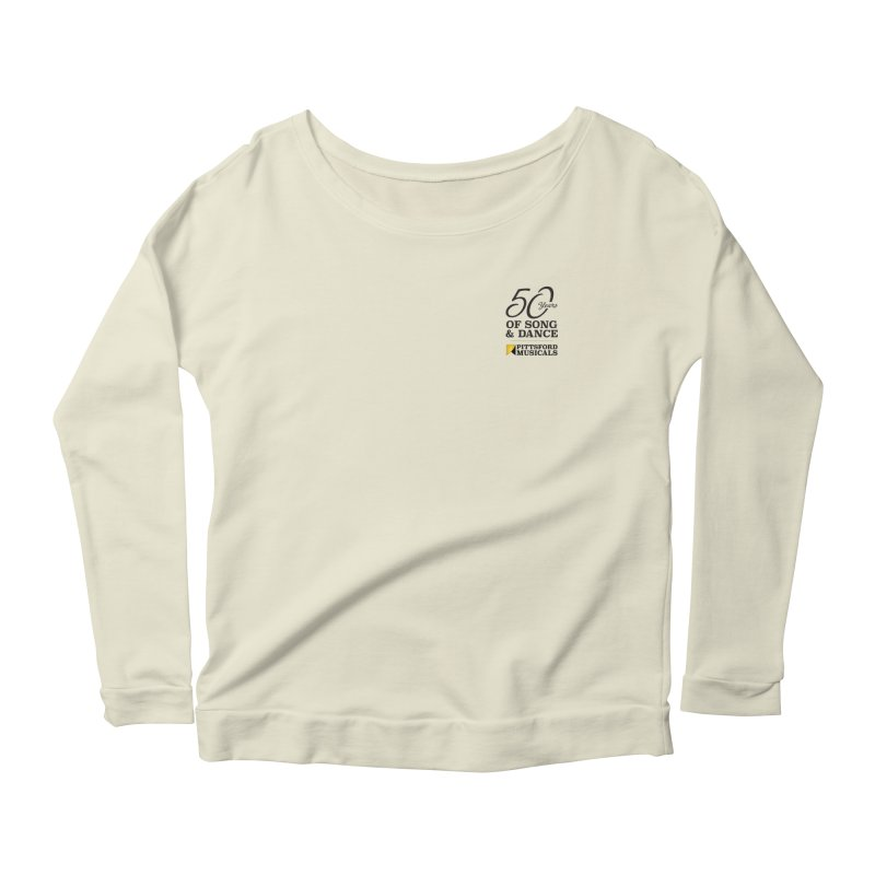 2018 show Women's Scoop Neck Longsleeve T-Shirt by Pittsford Musicals