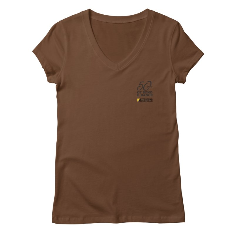 2018 show Women's Regular V-Neck by Pittsford Musicals