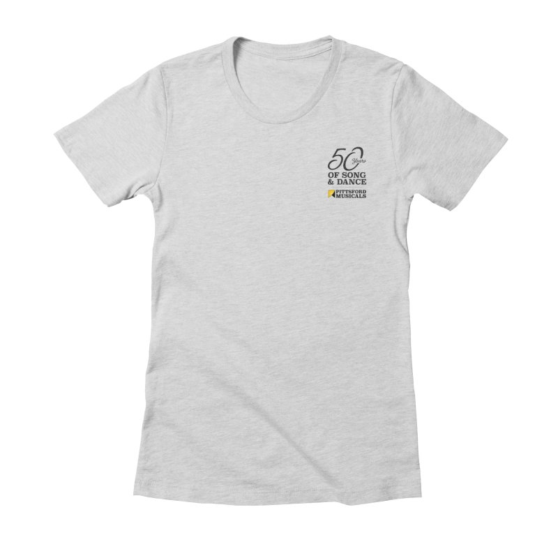 2018 show Women's Fitted T-Shirt by Pittsford Musicals