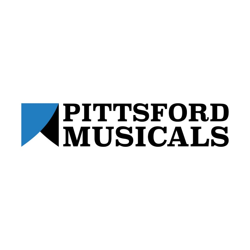 Main Logo - blue and black Men's Zip-Up Hoody by Pittsford Musicals