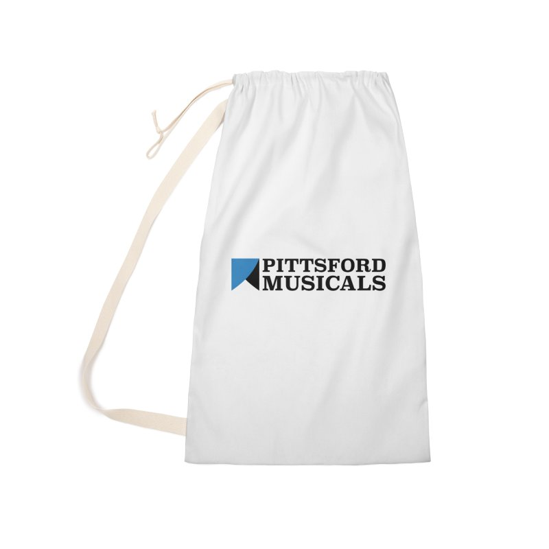 Main Logo - blue and black Accessories Laundry Bag Bag by Pittsford Musicals