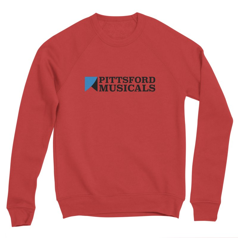 Main Logo - blue and black Men's Sweatshirt by Pittsford Musicals