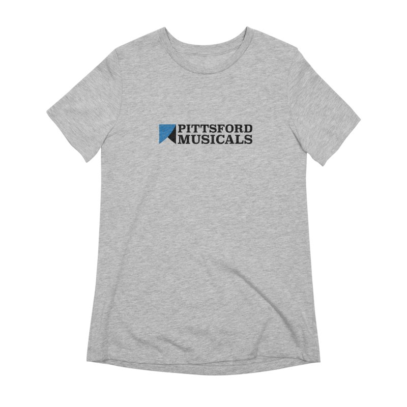 Main Logo - blue and black Women's Extra Soft T-Shirt by Pittsford Musicals