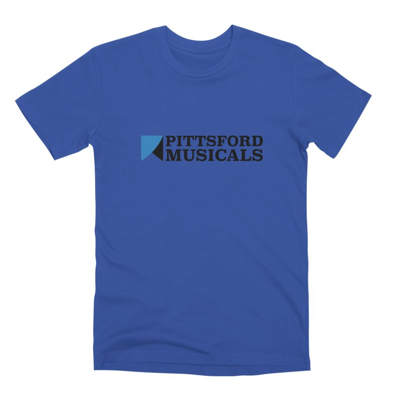 Main Logo - blue and black Men's Premium T-Shirt by Pittsford Musicals