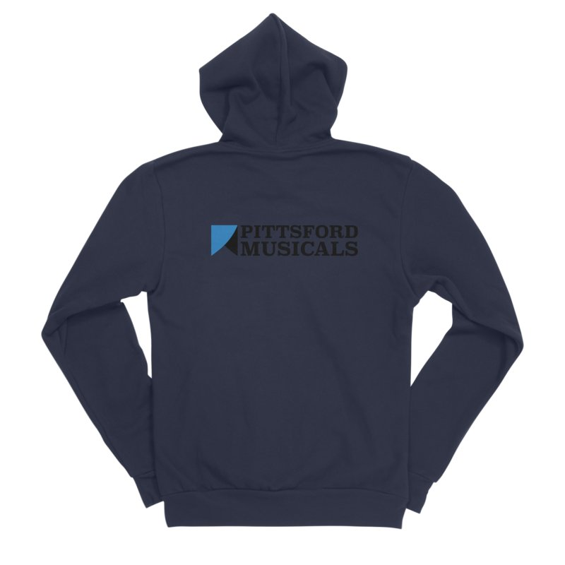 Main Logo - blue and black Women's Zip-Up Hoody by Pittsford Musicals