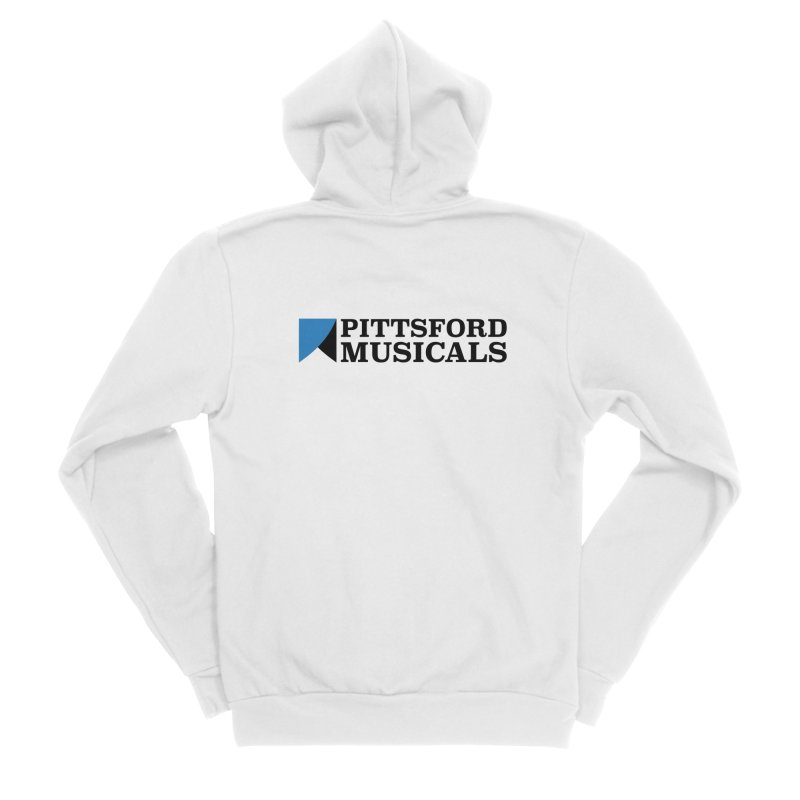 Main Logo - blue and black Women's Sponge Fleece Zip-Up Hoody by Pittsford Musicals