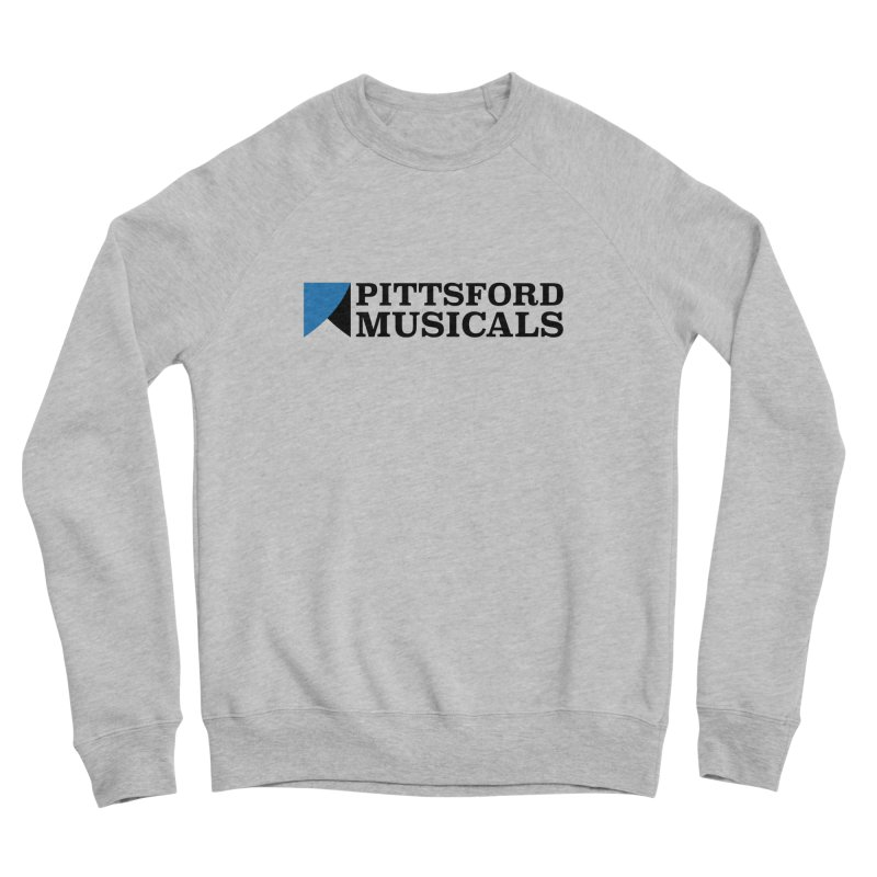 Main Logo - blue and black Men's Sponge Fleece Sweatshirt by Pittsford Musicals