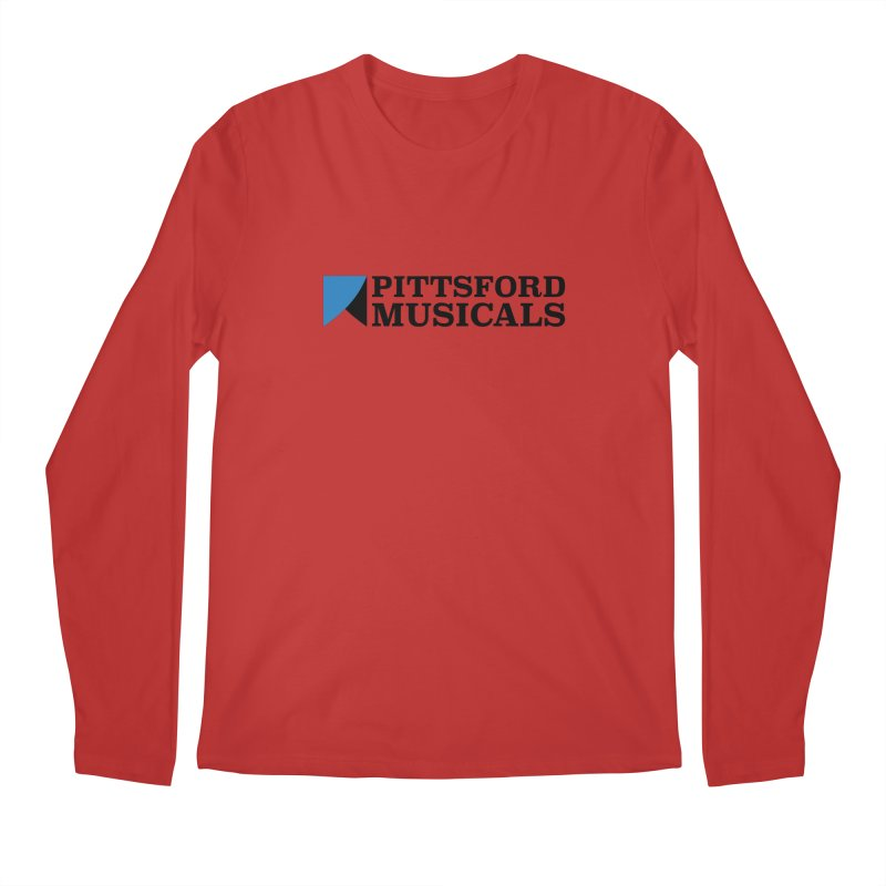 Main Logo - blue and black Men's Longsleeve T-Shirt by Pittsford Musicals