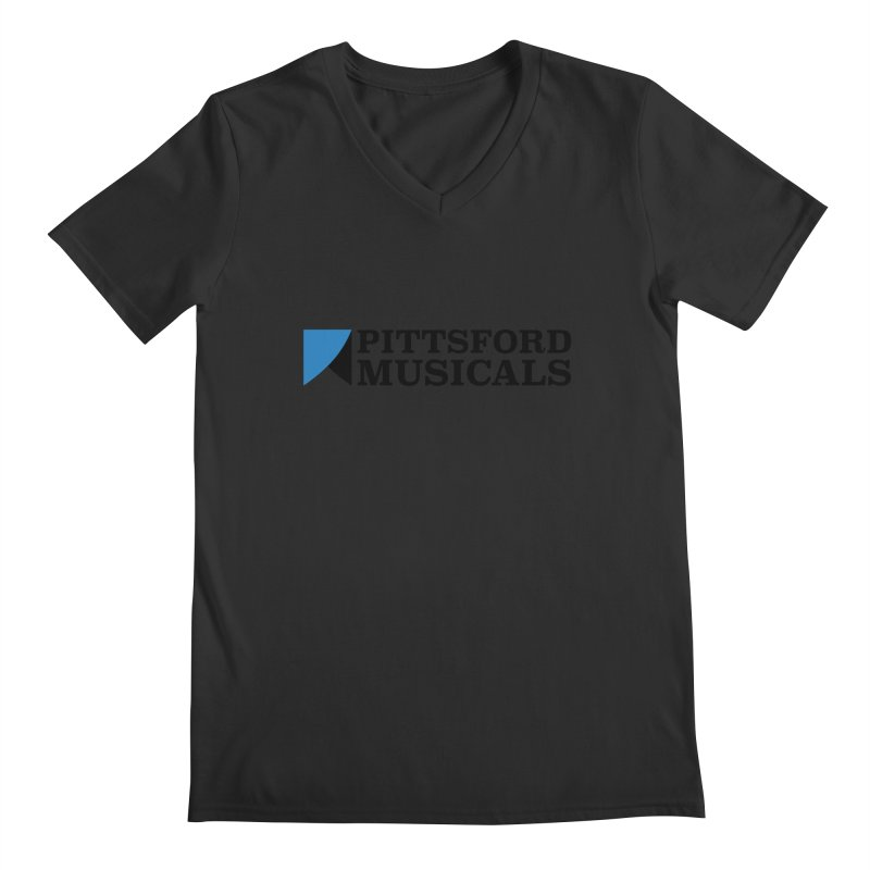Main Logo - blue and black Men's V-Neck by Pittsford Musicals