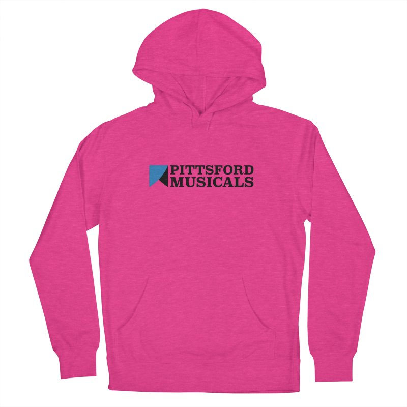 Main Logo - blue and black Men's French Terry Pullover Hoody by Pittsford Musicals