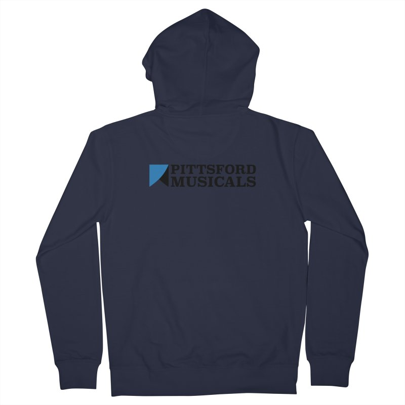 Main Logo - blue and black Women's French Terry Zip-Up Hoody by Pittsford Musicals