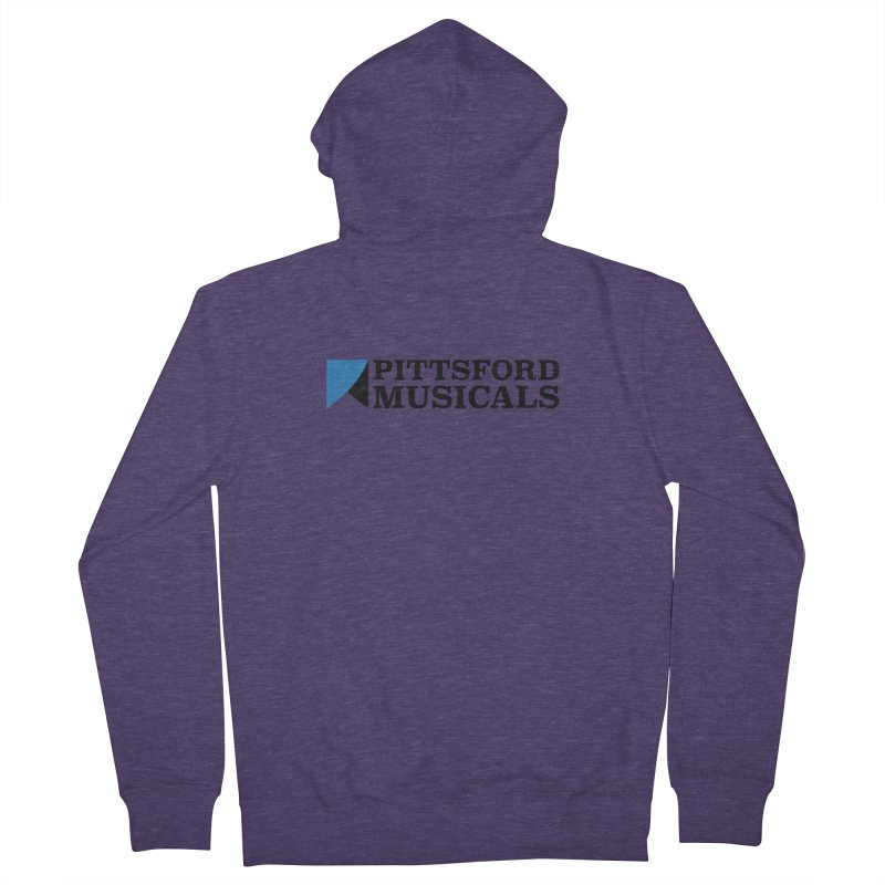 Main Logo - blue and black Men's French Terry Zip-Up Hoody by Pittsford Musicals