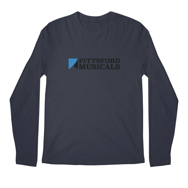 Main Logo - blue and black Men's Regular Longsleeve T-Shirt by Pittsford Musicals