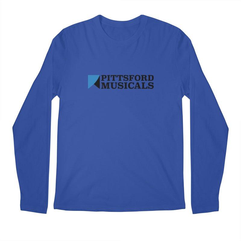 Main Logo - blue and black Men's Regular Longsleeve T-Shirt by Pittsford Musicals
