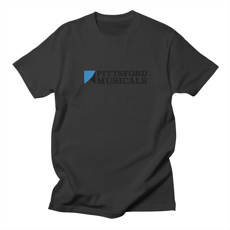 Main Logo - blue and black Men's Regular T-Shirt by Pittsford Musicals