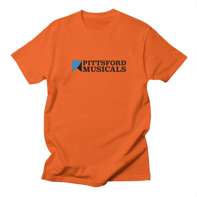 Main Logo - blue and black Men's Regular T-Shirt by Pittsford Musicals