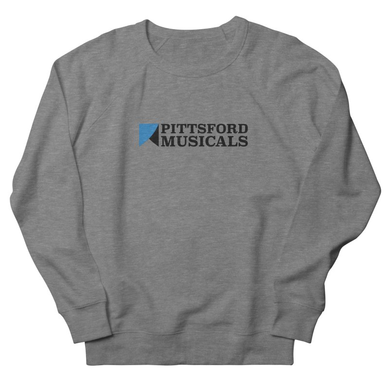 Main Logo - blue and black Men's French Terry Sweatshirt by Pittsford Musicals