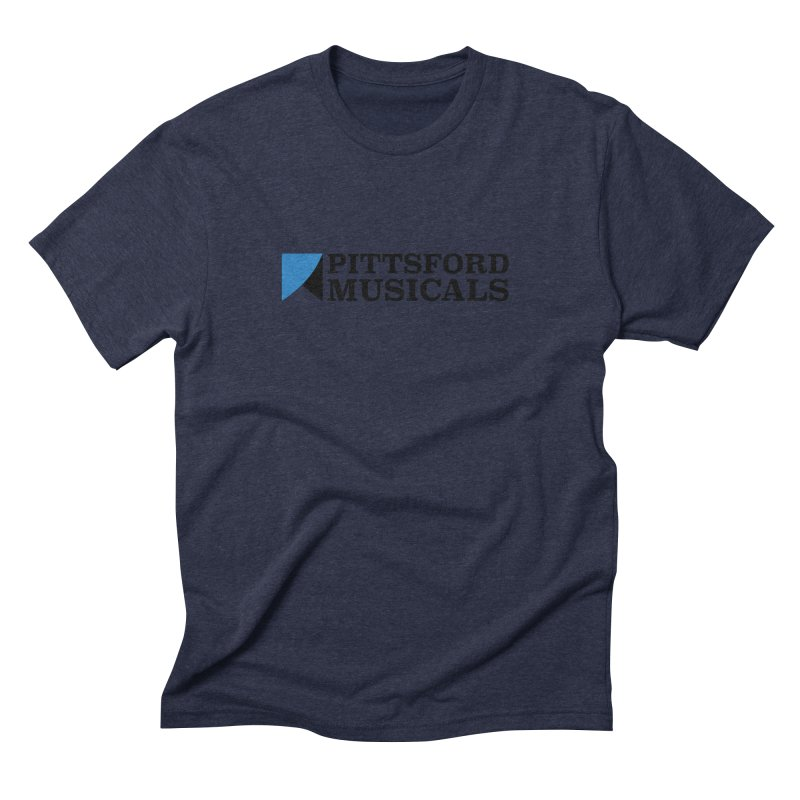 Main Logo - blue and black Men's Triblend T-Shirt by Pittsford Musicals