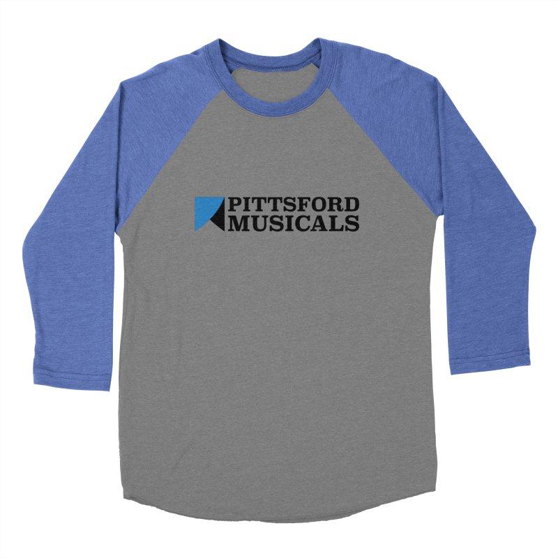 Main Logo - blue and black Men's Baseball Triblend Longsleeve T-Shirt by Pittsford Musicals