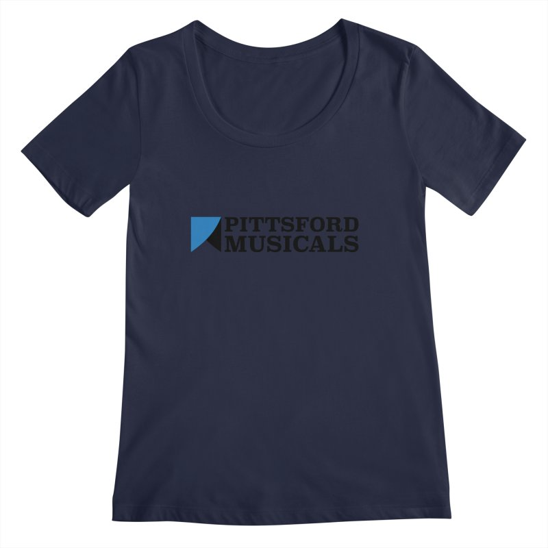 Main Logo - blue and black Women's Regular Scoop Neck by Pittsford Musicals