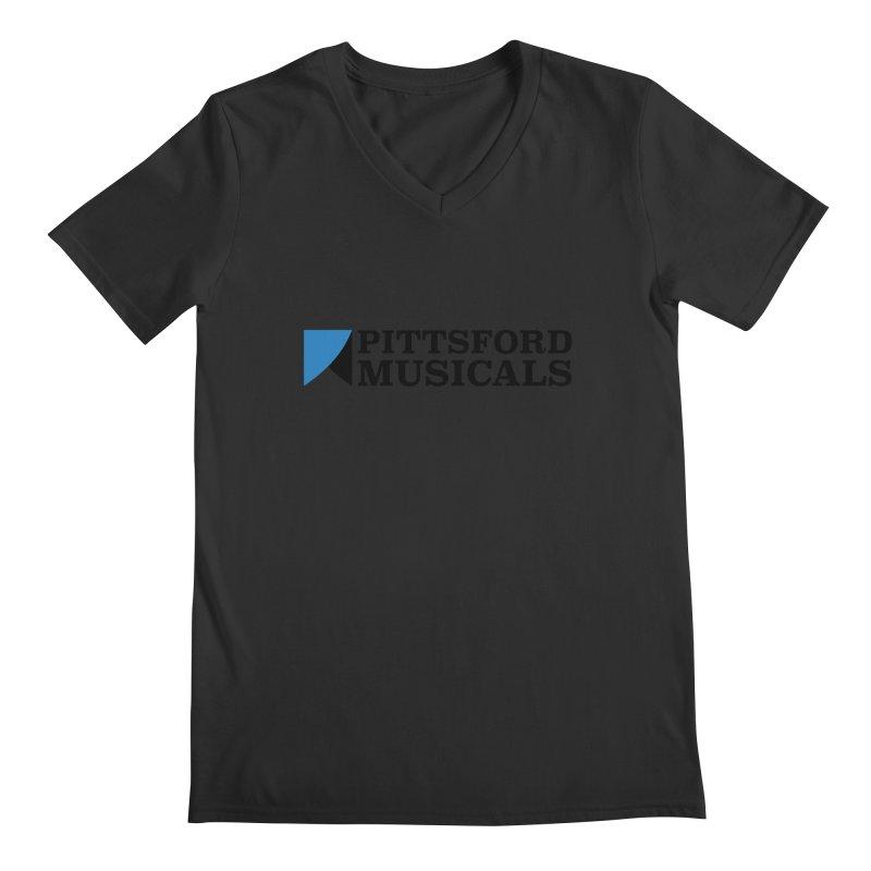 Main Logo - blue and black Men's Regular V-Neck by Pittsford Musicals