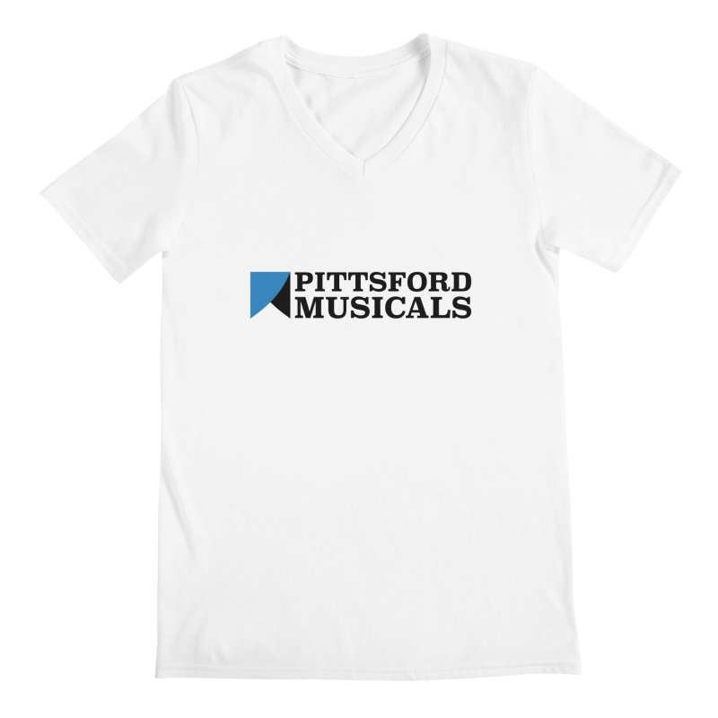 Main Logo - blue and black Men's Regular V-Neck by Pittsford Musicals