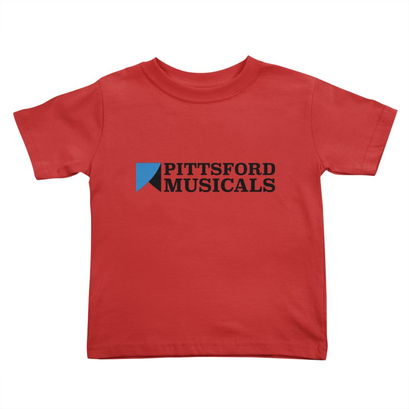 Main Logo - blue and black Kids Toddler T-Shirt by Pittsford Musicals