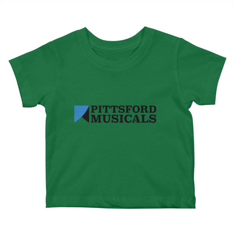 Main Logo - blue and black Kids Baby T-Shirt by Pittsford Musicals