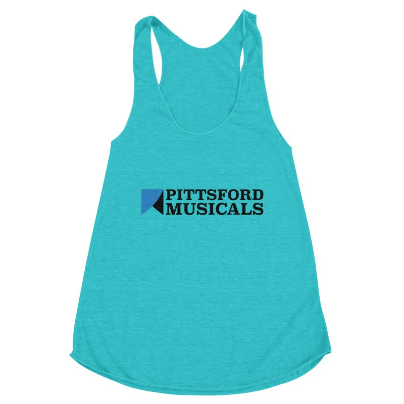 Main Logo - blue and black Women's Racerback Triblend Tank by Pittsford Musicals