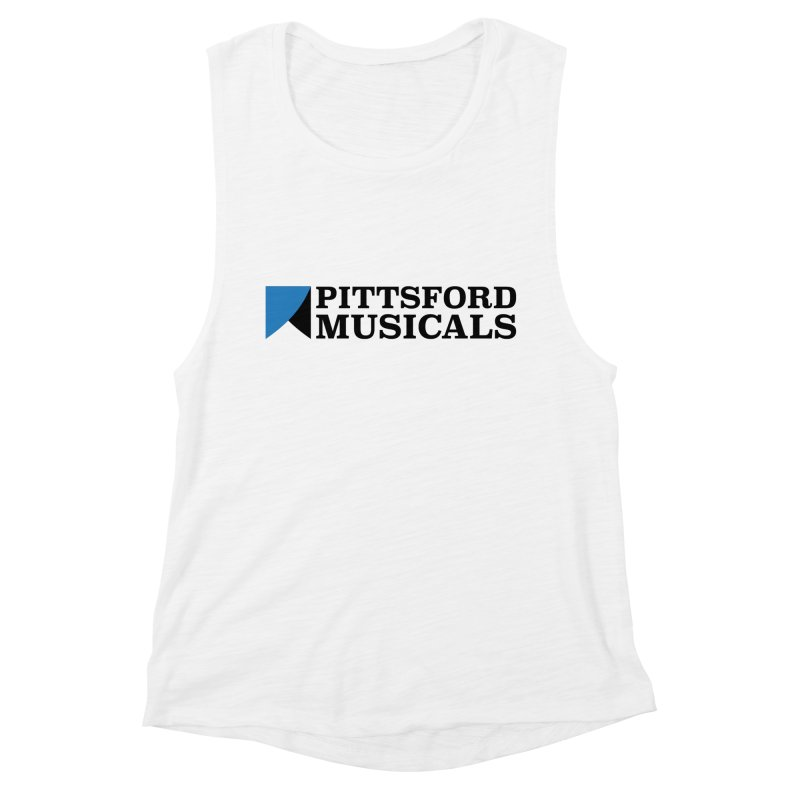 Main Logo - blue and black Women's Muscle Tank by Pittsford Musicals