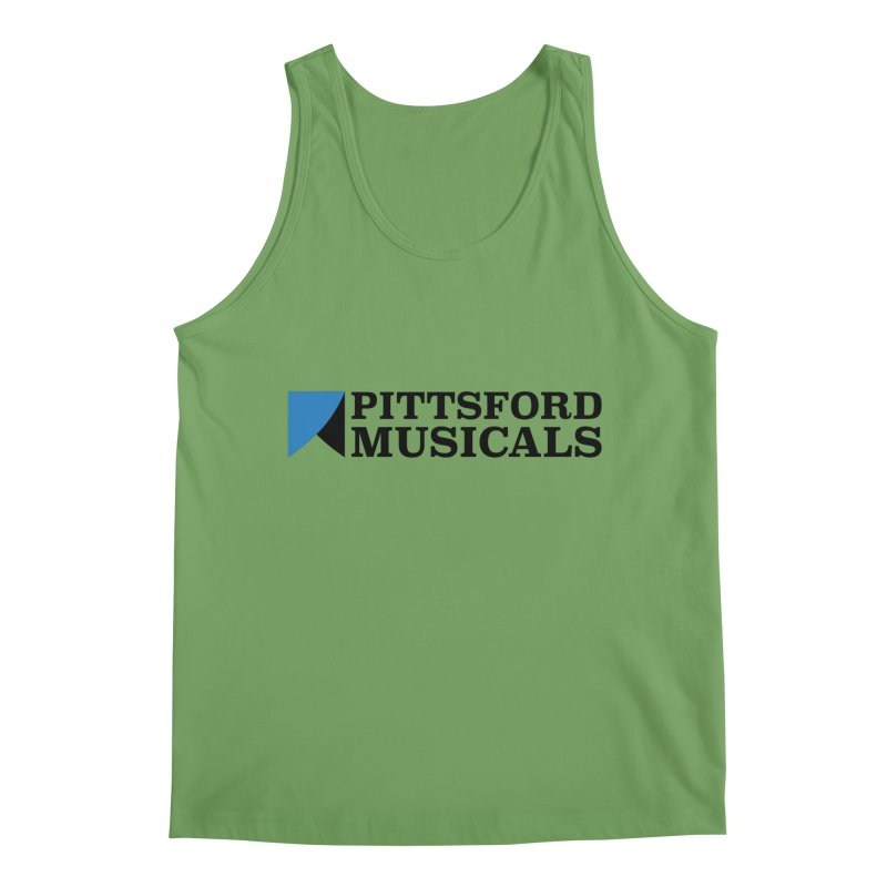 PM Logo in Black Men's Tank by Pittsford Musicals