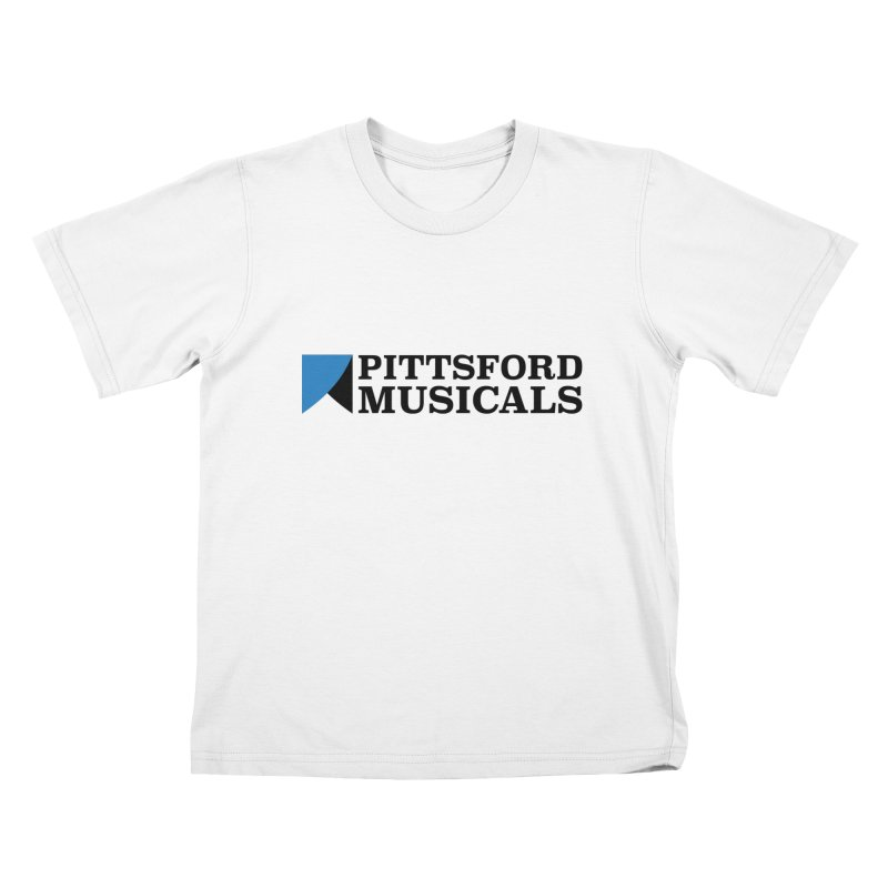 Main Logo - blue and black in Kids T-Shirt White by Pittsford Musicals