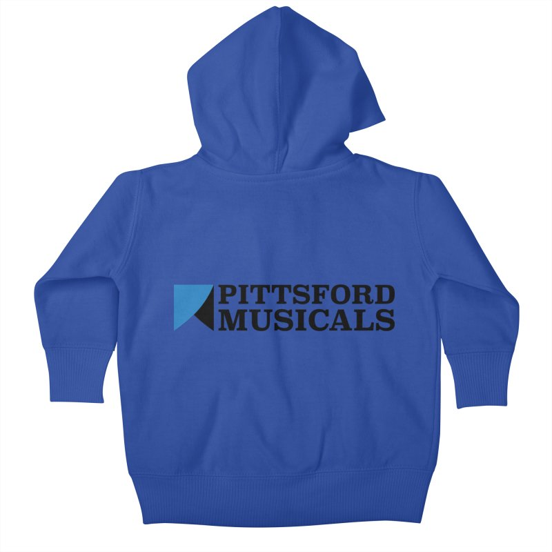 Main Logo - blue and black Kids Baby Zip-Up Hoody by Pittsford Musicals