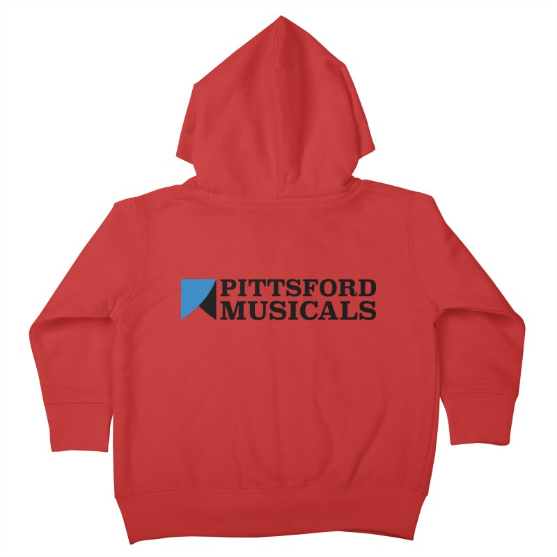 Main Logo - blue and black Kids Toddler Zip-Up Hoody by Pittsford Musicals