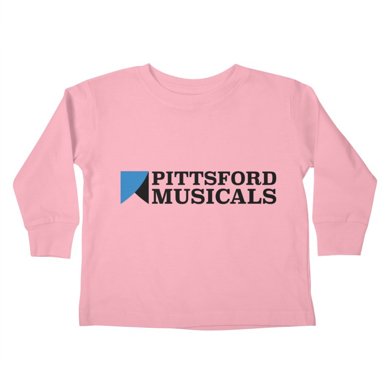 Main Logo - blue and black Kids Toddler Longsleeve T-Shirt by Pittsford Musicals