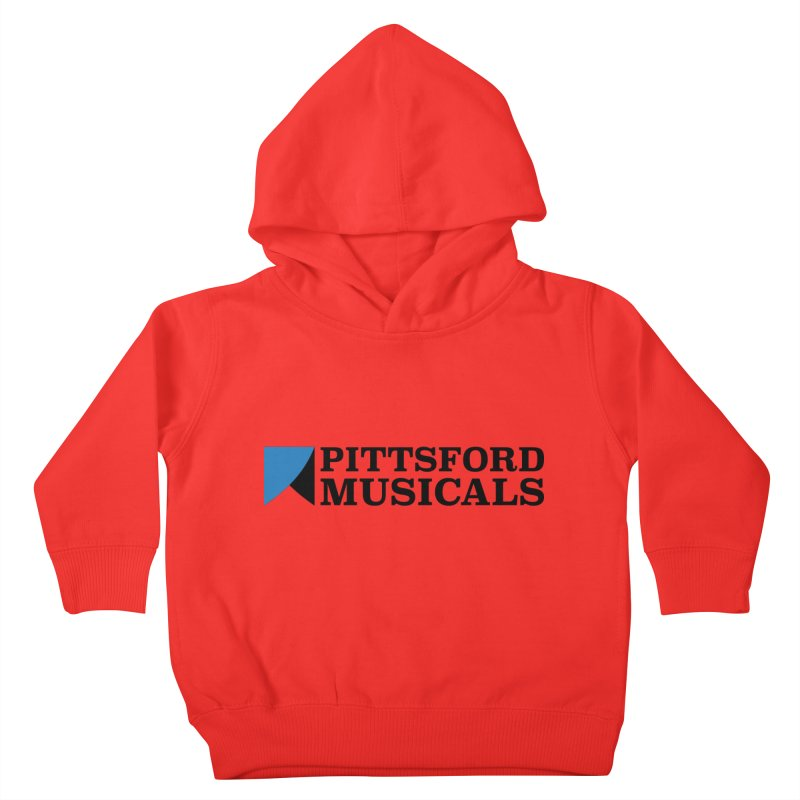 PM Logo in Black Kids Toddler Pullover Hoody by Pittsford Musicals