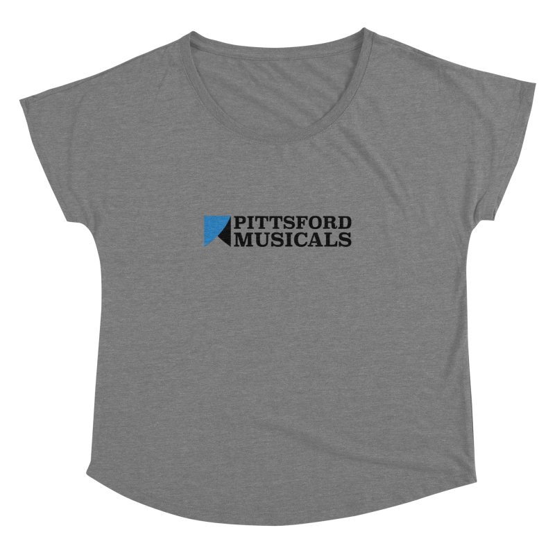 Main Logo - blue and black Women's Scoop Neck by Pittsford Musicals