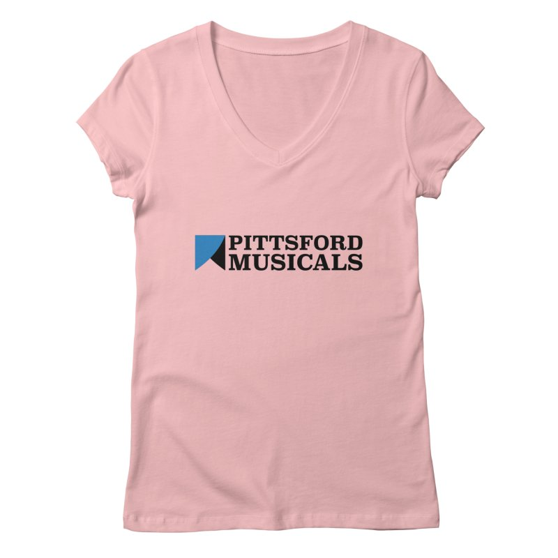 Main Logo - blue and black Women's V-Neck by Pittsford Musicals