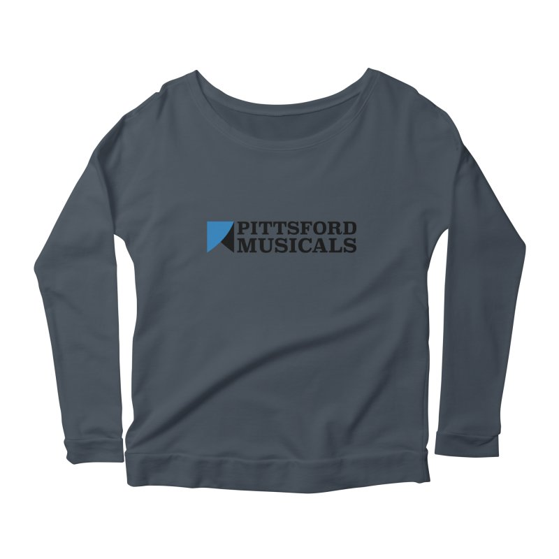 Main Logo - blue and black Women's Scoop Neck Longsleeve T-Shirt by Pittsford Musicals