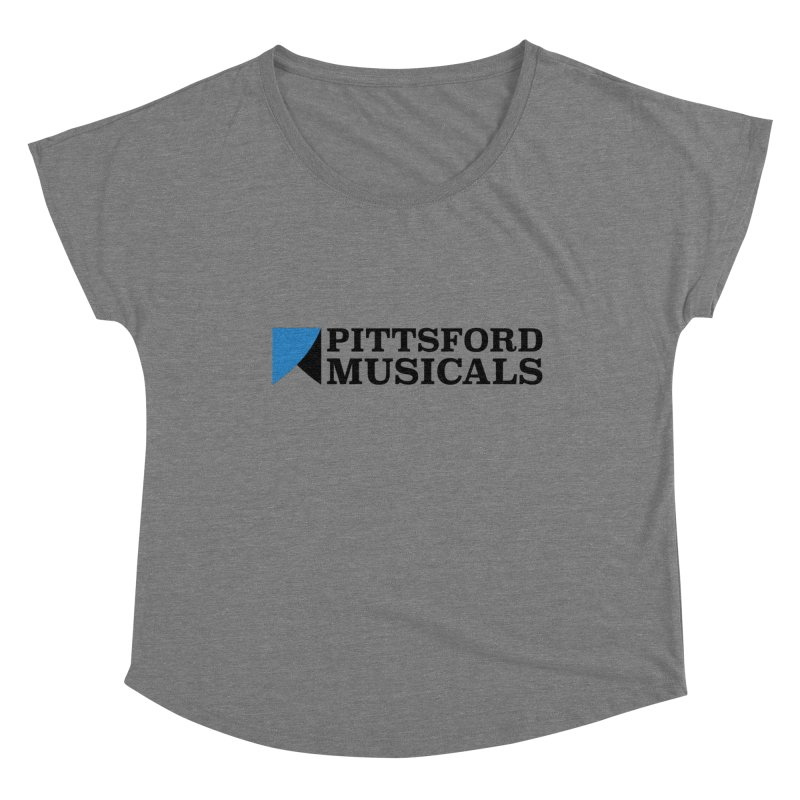 Main Logo - blue and black Women's Dolman Scoop Neck by Pittsford Musicals