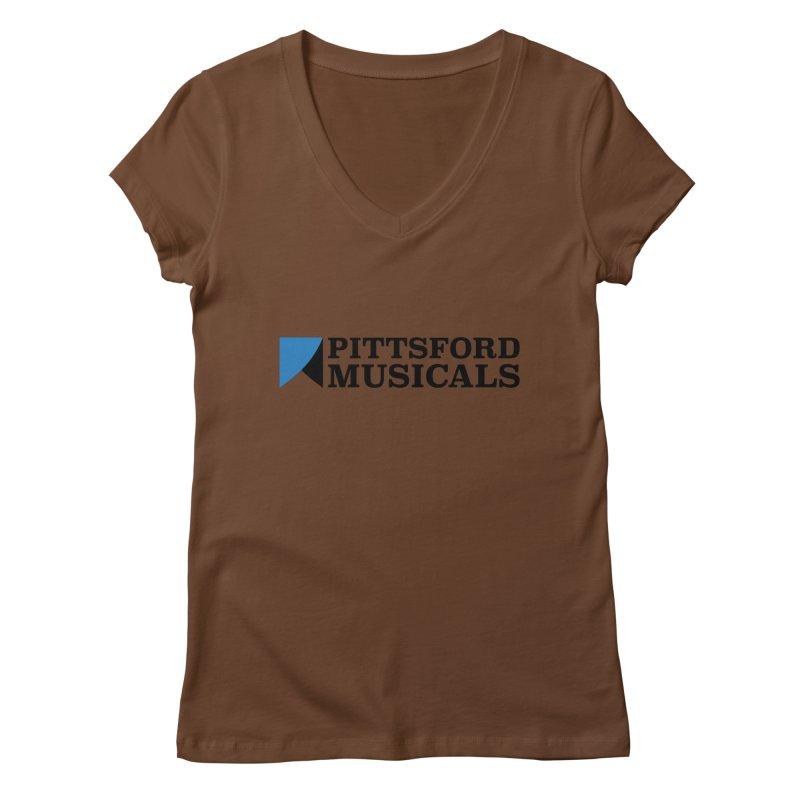 Main Logo - blue and black Women's Regular V-Neck by Pittsford Musicals