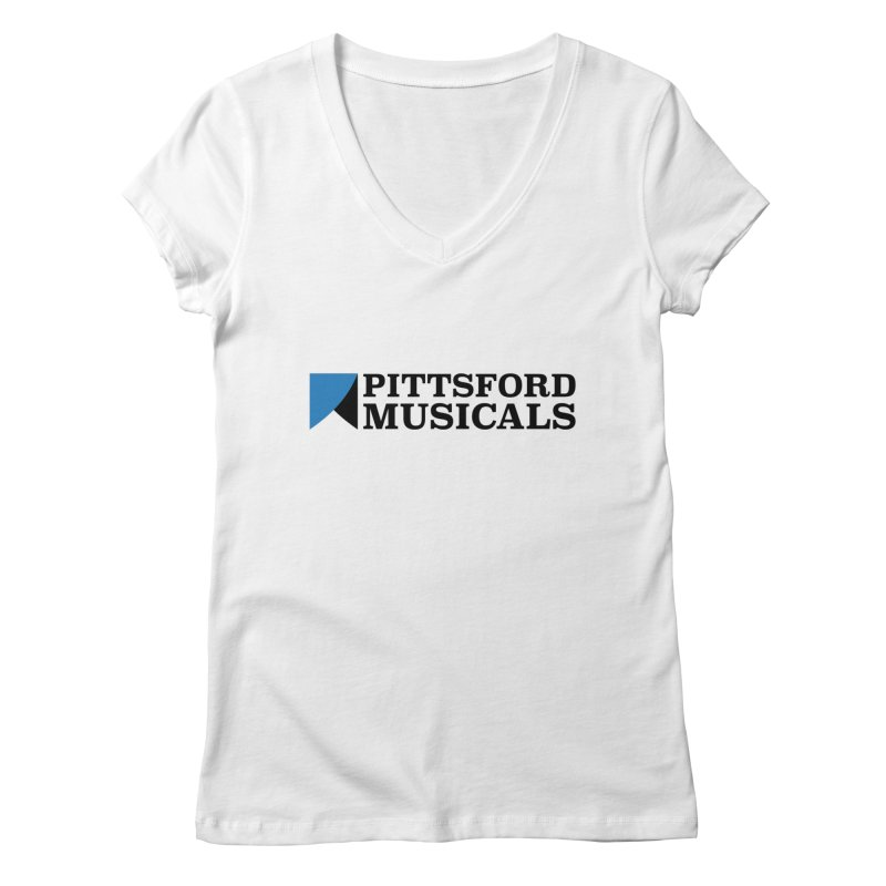 Main Logo - blue and black Women's Regular V-Neck by Pittsford Musicals