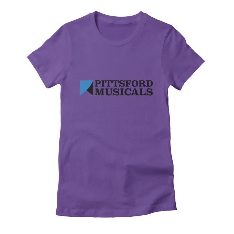 Main Logo - blue and black Women's Fitted T-Shirt by Pittsford Musicals