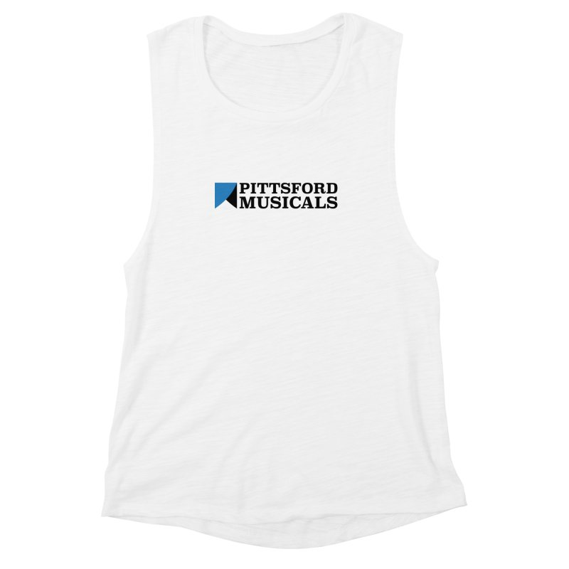 Main Logo - blue and black Women's Tank by Pittsford Musicals