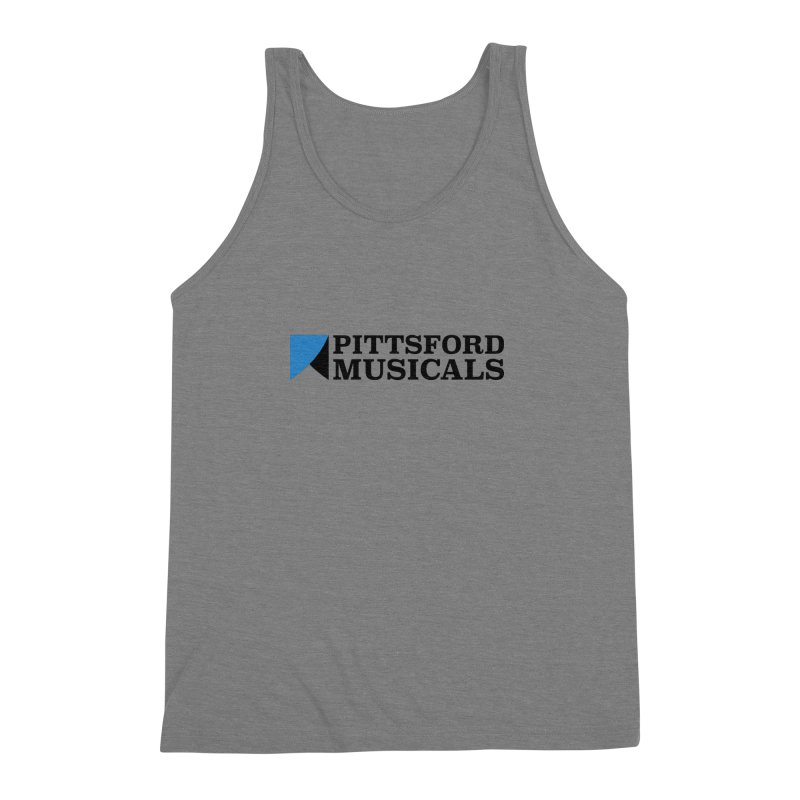 Main Logo - blue and black Men's Tank by Pittsford Musicals