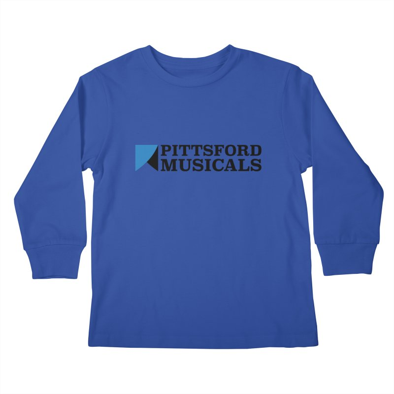 Main Logo - blue and black Kids Longsleeve T-Shirt by Pittsford Musicals