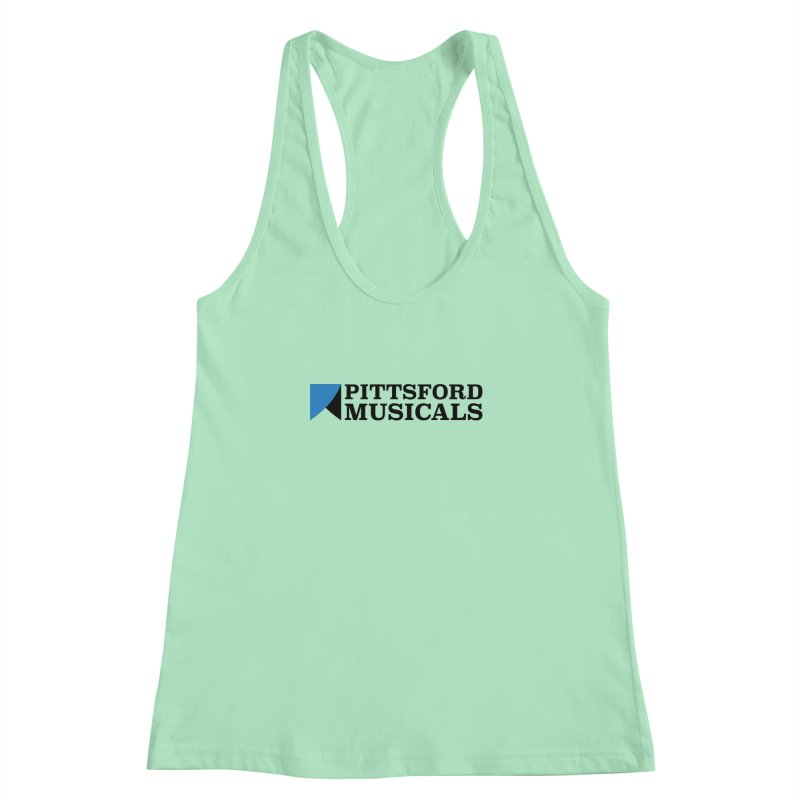 Main Logo - blue and black Women's Racerback Tank by Pittsford Musicals
