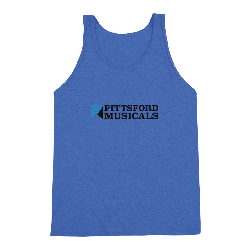 Main Logo - blue and black Men's Triblend Tank by Pittsford Musicals