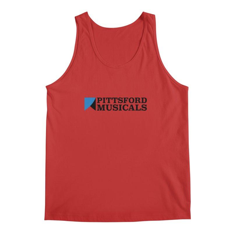 Main Logo - blue and black Men's Regular Tank by Pittsford Musicals